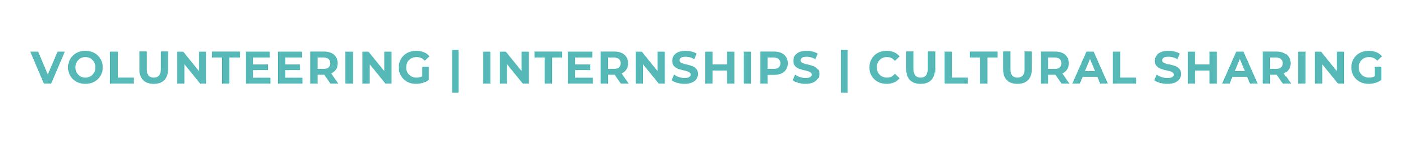 Volunteering   internships   cultural sharing at inter cultural education