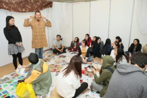 """Partnering with Hong Kong Polytechnic University to organise a 2 day Refugee and Poverty Simulations """"Experience Global, Discover Value"""""""